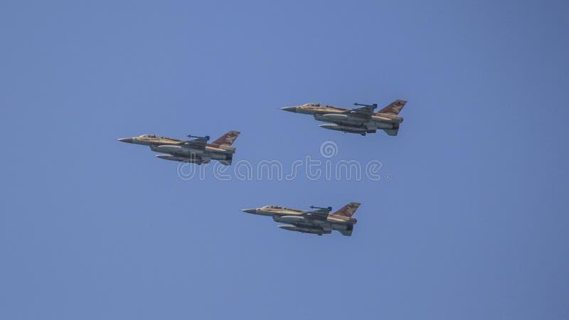 以色列独立日以色列人空军队跨线桥 库存图片