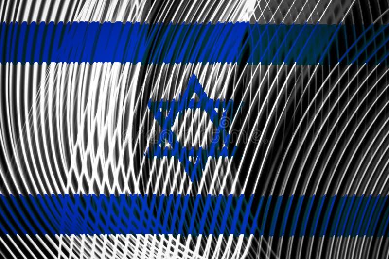 以色列的国旗 皇族释放例证