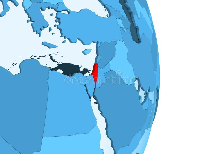 以色列的地图红色的 皇族释放例证
