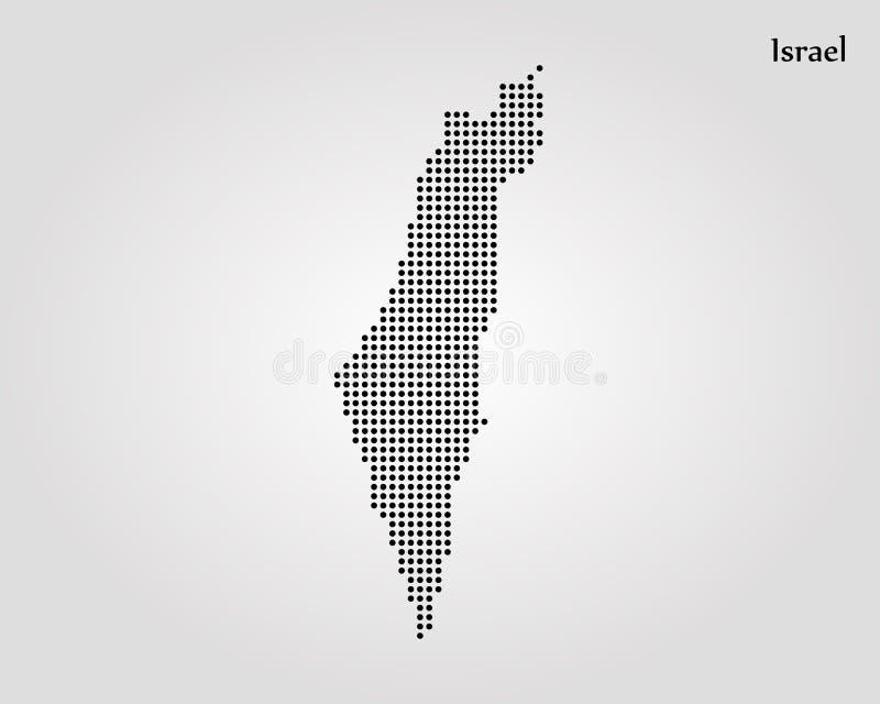 以色列的地图 r E 库存例证