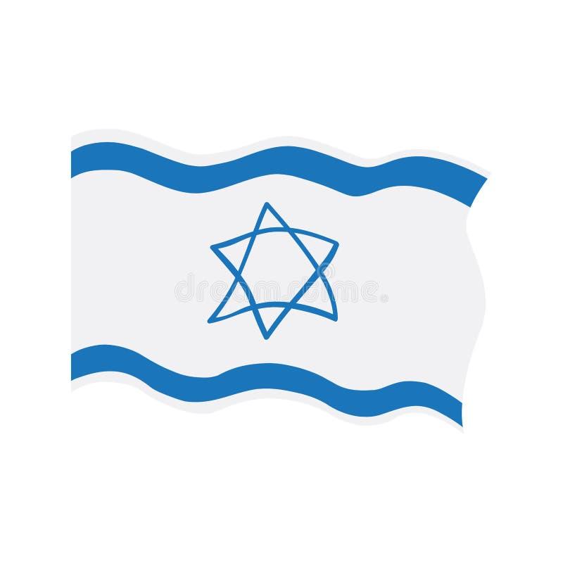 以色列的挥动的旗子 向量例证