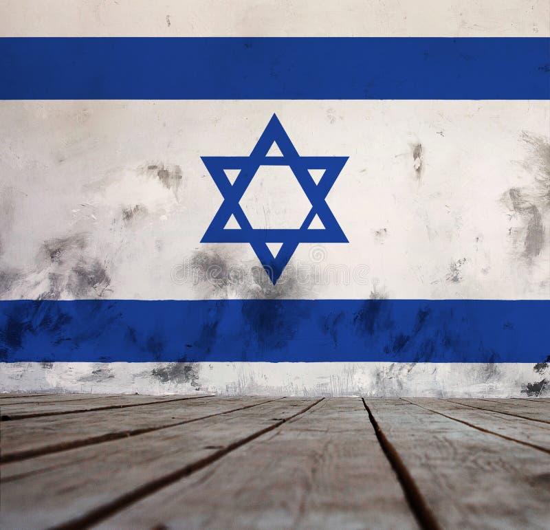 以色列的旗子 库存例证