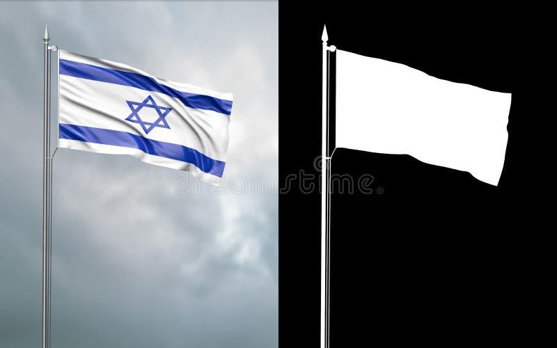 以色列的状态旗子 库存例证