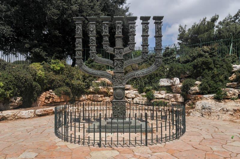 以色列议会Menorah -耶路撒冷 免版税库存照片