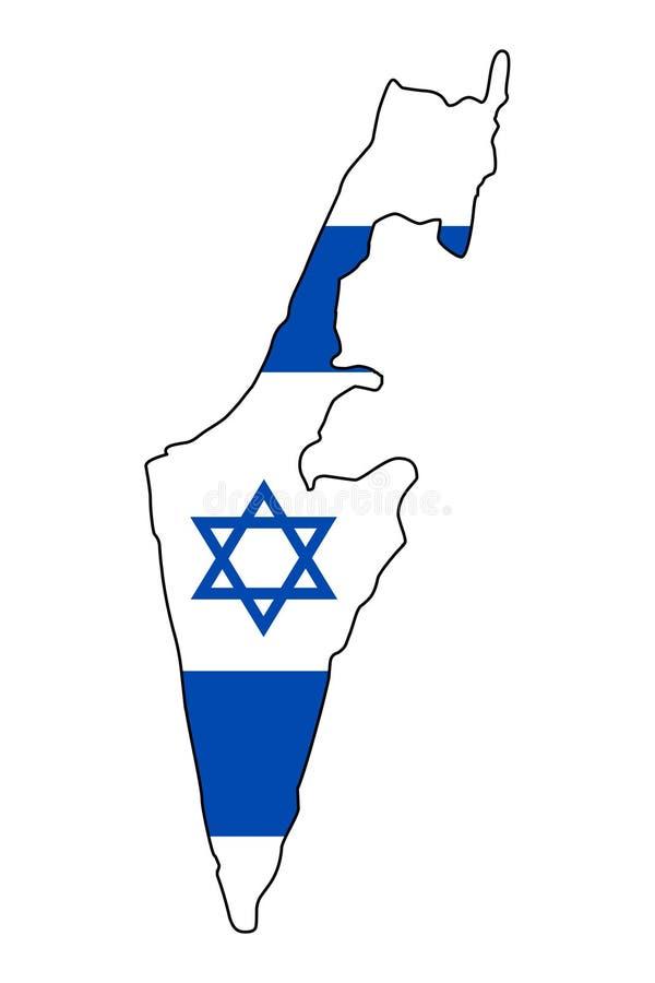 以色列 以色列传染媒介例证地图  皇族释放例证