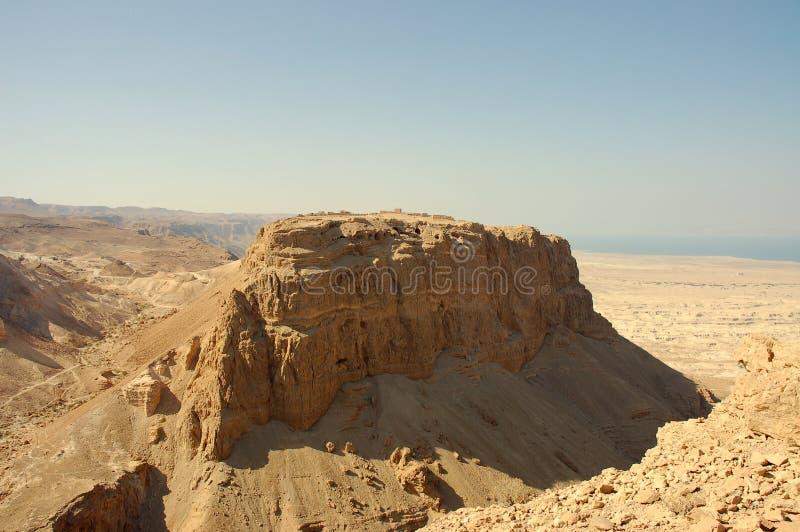 以色列masada堡垒 图库摄影