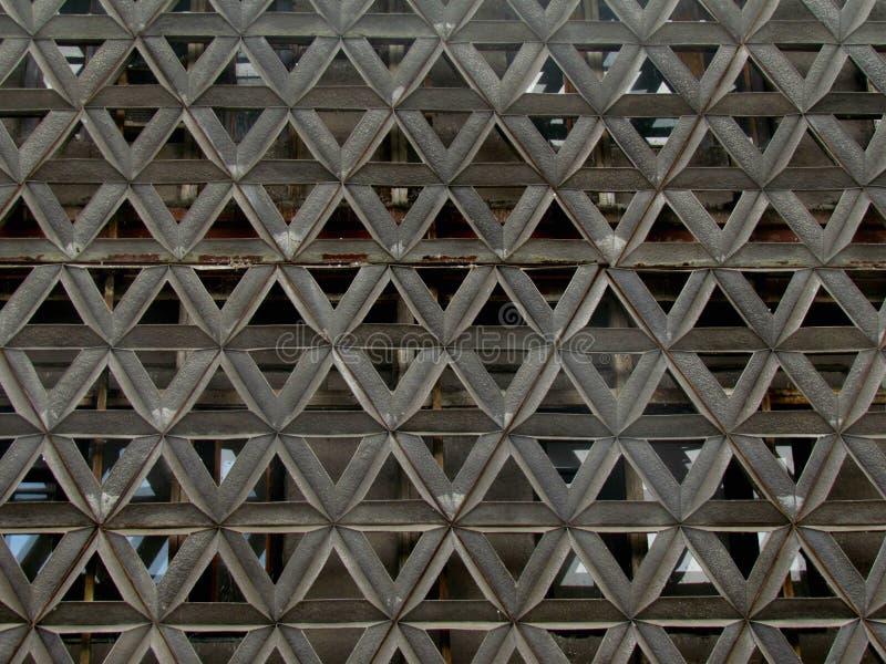 以装饰品的形式抽象金属建筑 图库摄影