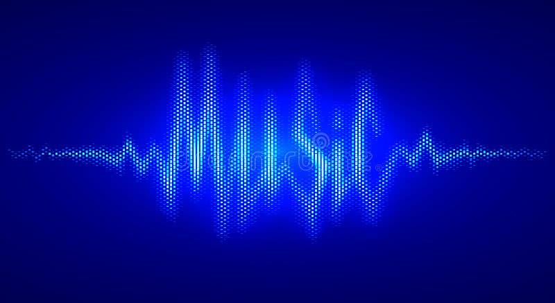 以词音乐的形式声波 传染媒介字法 向量例证