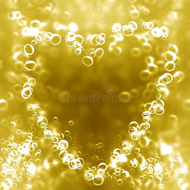以重点的形式香宾泡影 向量例证