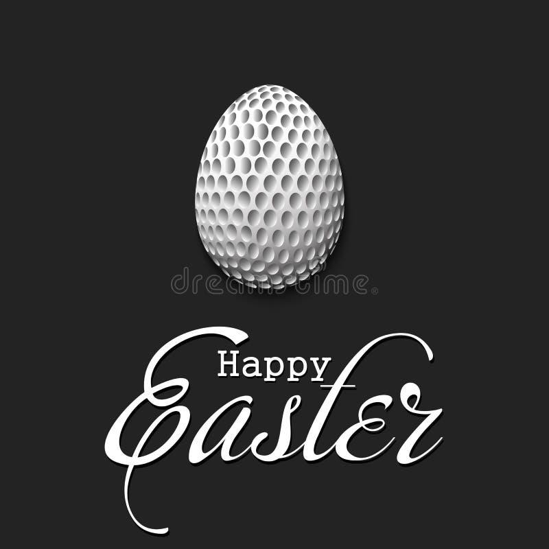 o 以高尔夫球的形式鸡蛋 库存例证