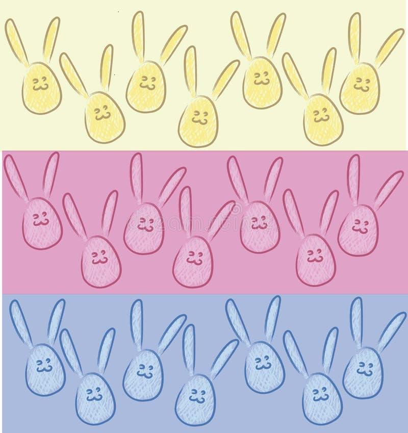 以鸡蛋,兔宝宝3的形式兔子-'s颜色 库存例证