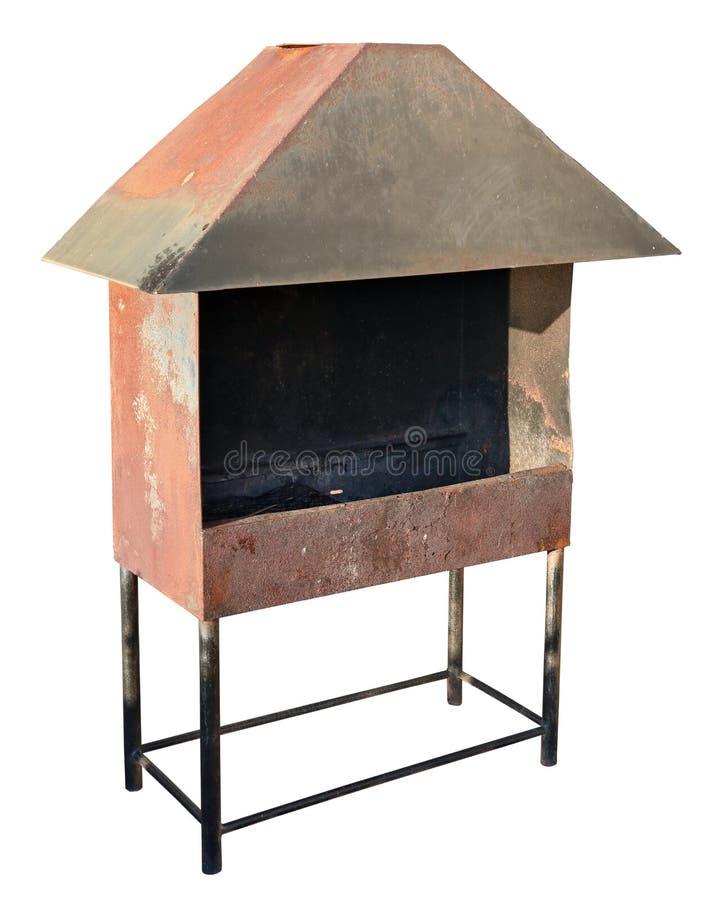 以smal的形式,烤肉格栅由金属板制成 免版税库存图片