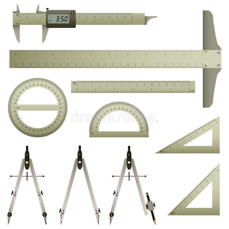 仪器数学评定 向量例证