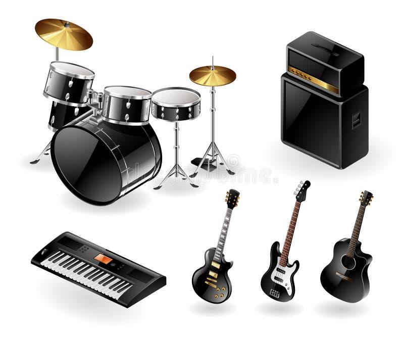 仪器现代音乐会 向量例证