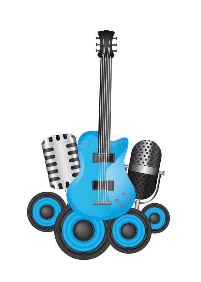 仪器音乐会 库存例证