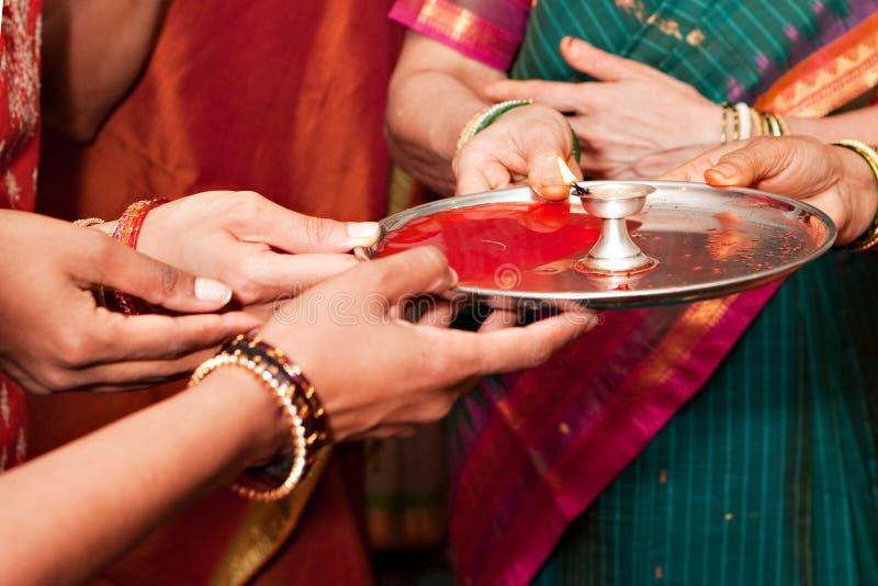 仪式印度婚礼 库存照片