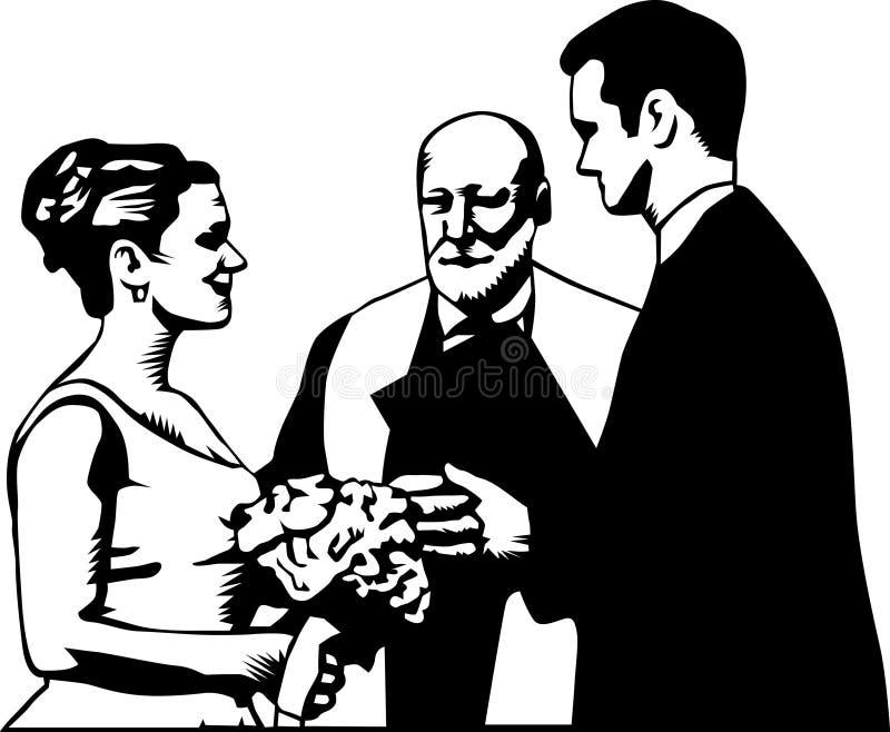 仪式婚礼 向量例证