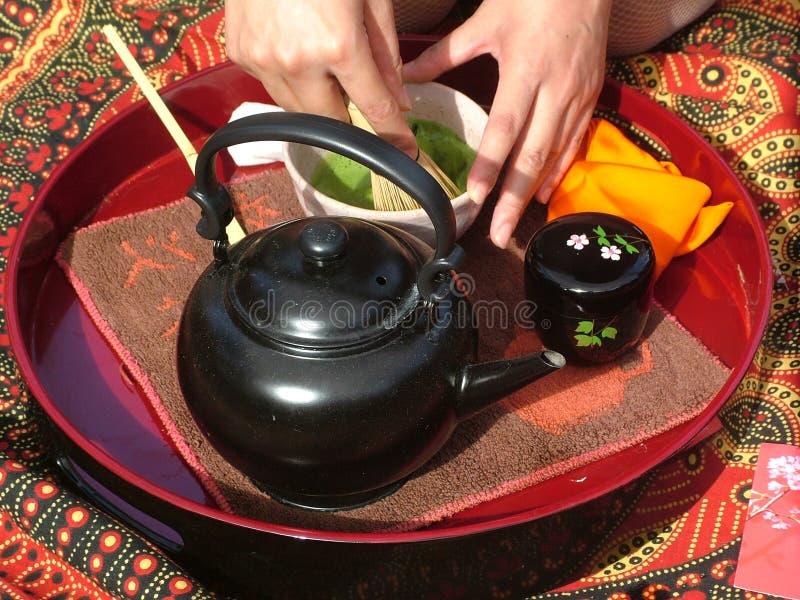 仪式日本人茶 免版税库存照片