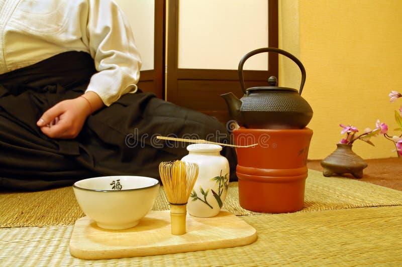 仪式日本人茶 库存图片