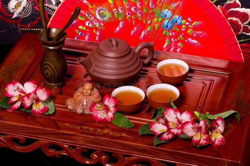 仪式日本茶 库存图片
