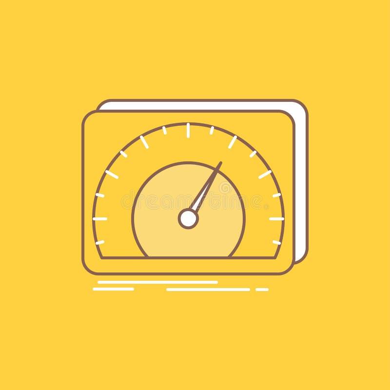 仪表板,设备,速度,测试,互联网平的线填装了象 r 库存例证