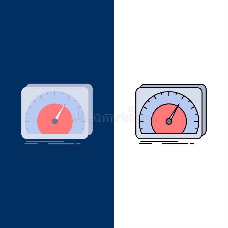 仪表板,设备,速度,测试,互联网平的颜色象传染媒介 库存例证