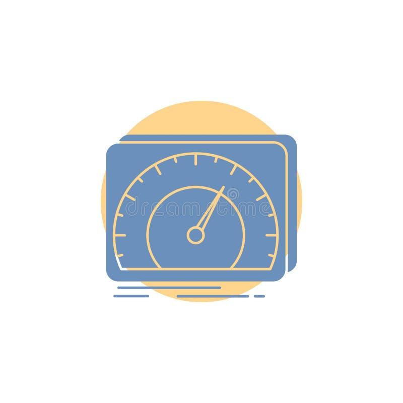 仪表板,设备,速度,测试,互联网纵的沟纹象 向量例证