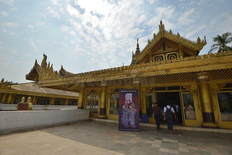 仰光Kanbawzathadi宫殿在Bago 库存照片