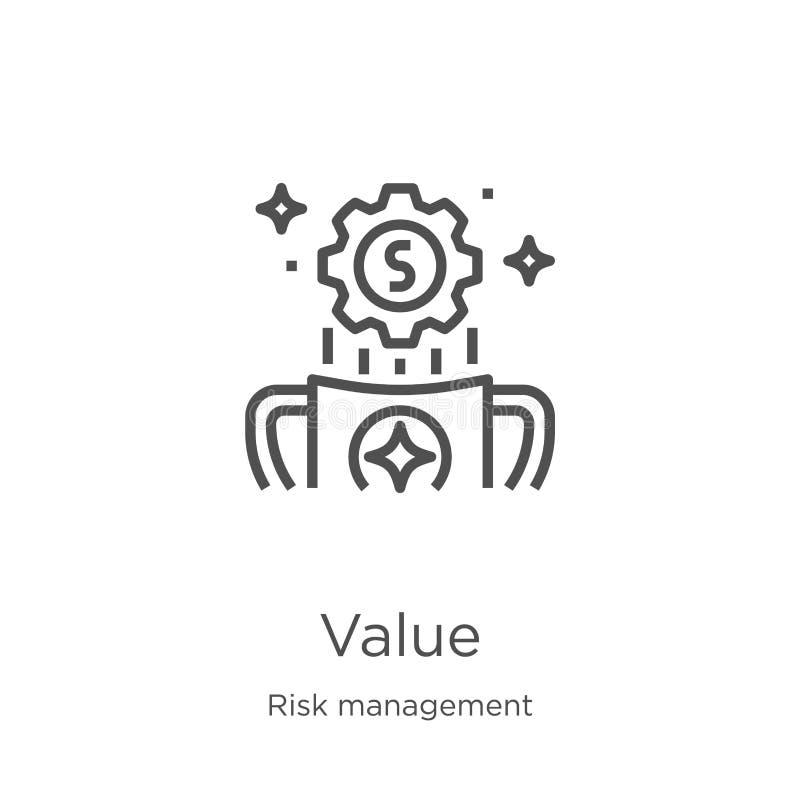 价值从风险管理汇集的象传染媒介 稀薄的线价值概述象传染媒介例证 概述,稀薄的线价值象 皇族释放例证