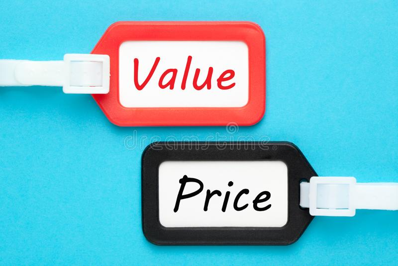 价值价格概念 免版税图库摄影