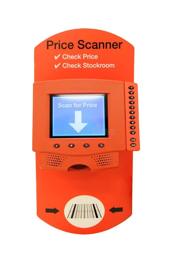 价格扫描程序 库存图片