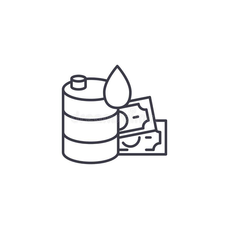 价格每个桶线性象概念 价格每条桶线传染媒介标志,标志,例证 向量例证