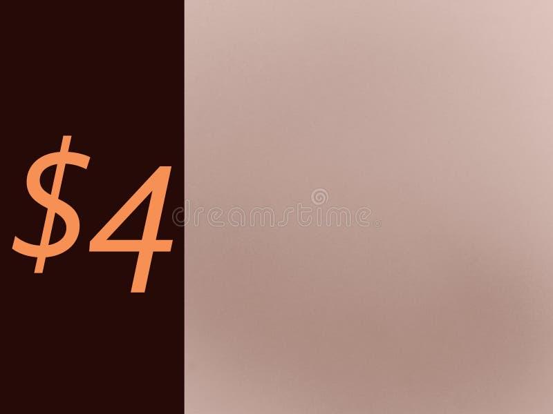价格4美元页为企业使用 免版税库存图片