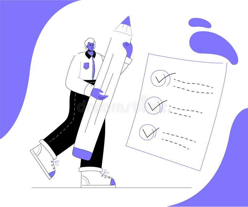 任务安排-现代五颜六色的平的设计样式例证 库存例证