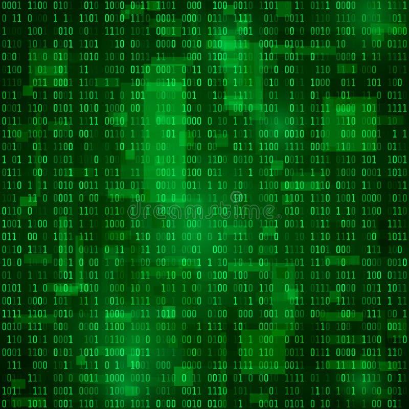 任意二进制数据的一代 编制程序信息 矩阵传染媒介背景 库存例证
