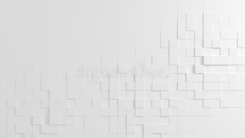 任意地被挤压的立方体抽象几何纹理  库存例证