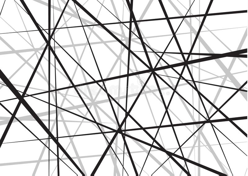 任意混乱线摘要几何样式 向量背景 能用于盖子设计,书设计,海报 库存例证