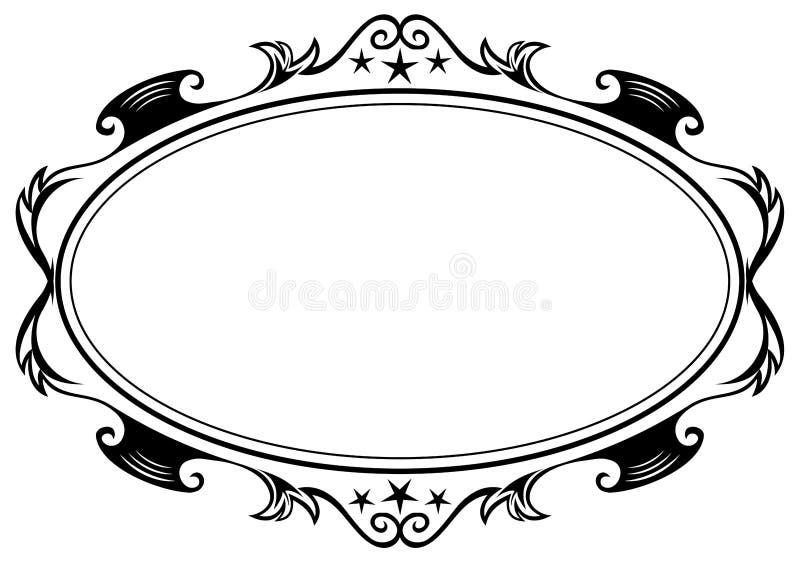 仿古框架长圆形 皇族释放例证