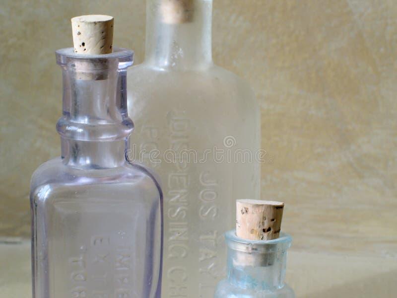 仿古玻璃瓶 免版税库存照片