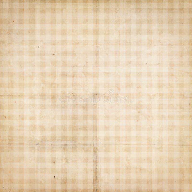 仿古被检查的检查纸张被构造的葡萄酒 向量例证