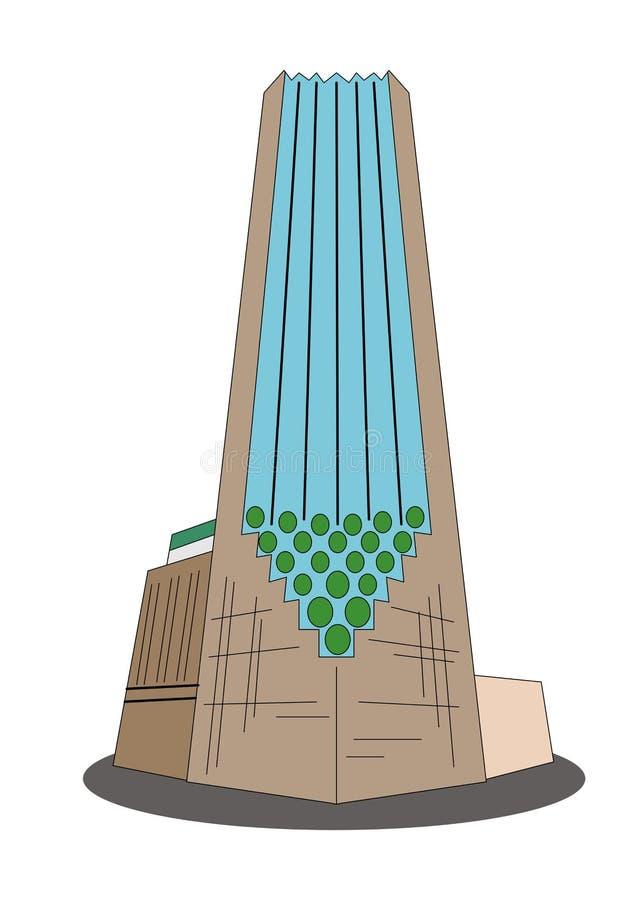 仿照平的设计样式的例证在王牌塔的题材 向量例证