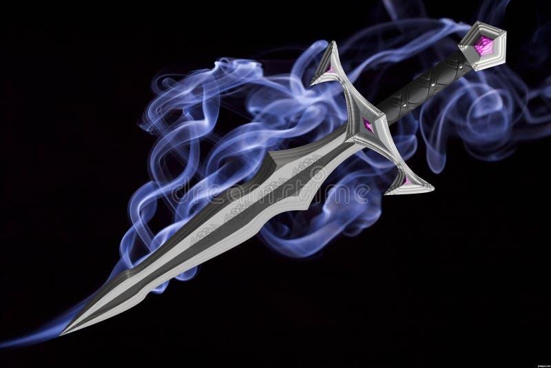 仿照幻想样式的剑 免版税库存照片