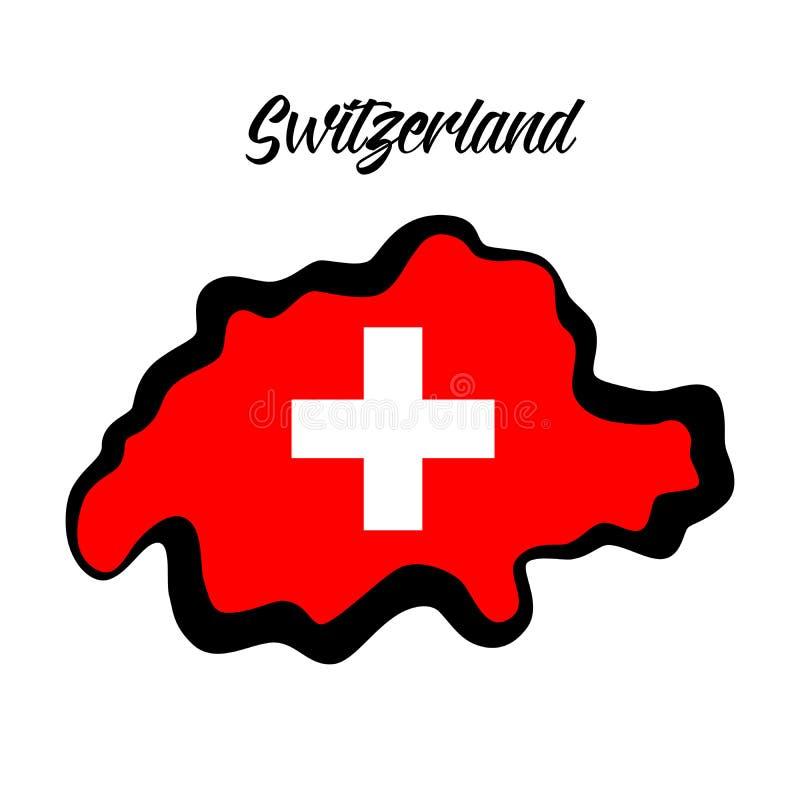 仿照物质设计样式的Illustation在瑞士的theem 库存例证