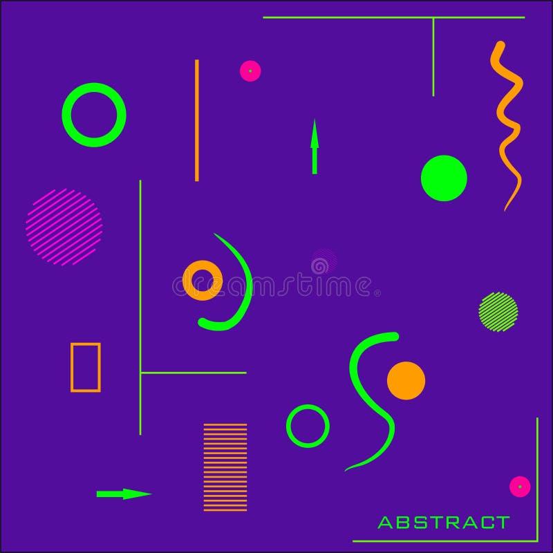 仿照现代主义`抽象`样式的原始,明亮,创造性,现代背景 皇族释放例证