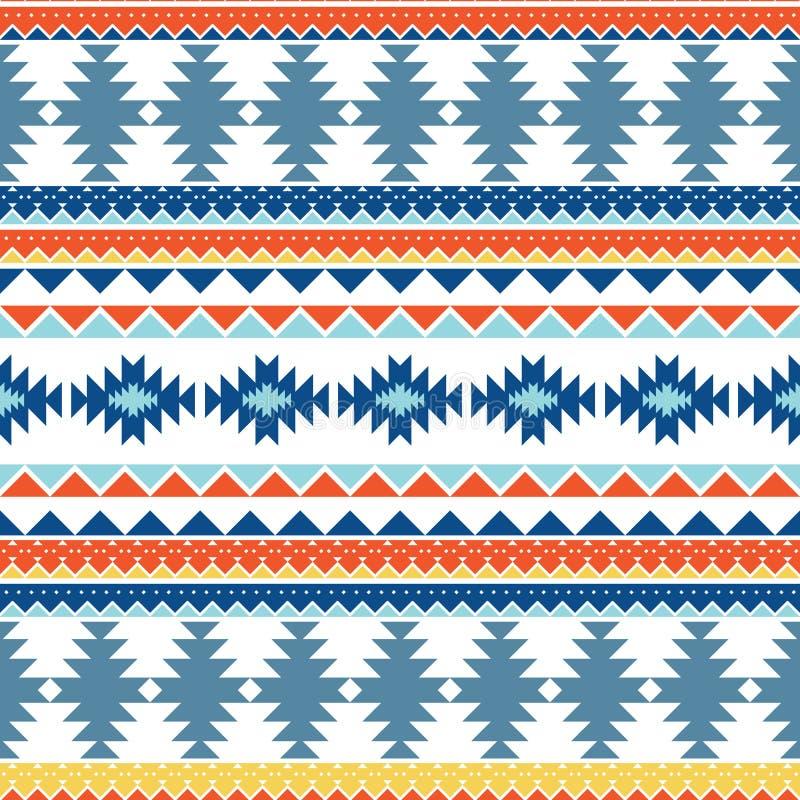 仿照美洲印第安人样式的无缝的样式 部族的样式 几何装饰品 背景的,包裹p的组织纹理 向量例证