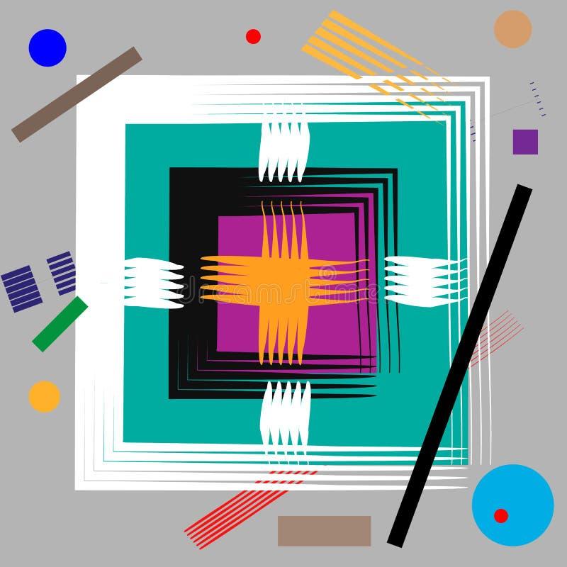 仿照马列维奇样式的抽象构成 未来主义Supermatism背景 皇族释放例证