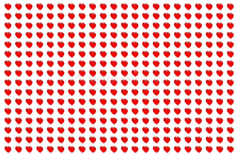 仿造心脏透明红色重象网络设计基地假日纸包装华伦泰` s天 向量例证