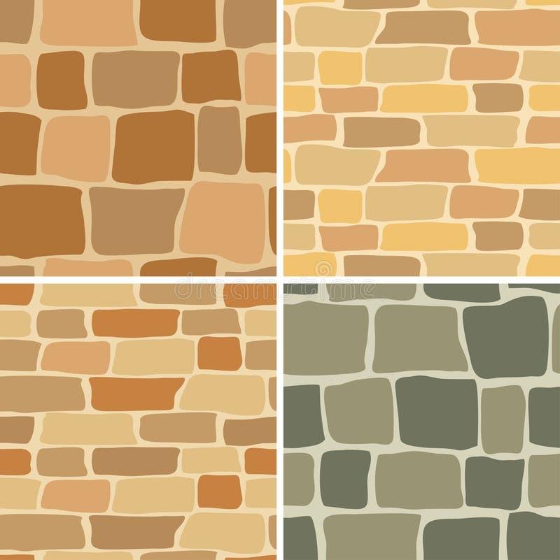 仿造无缝的集石墙 向量例证