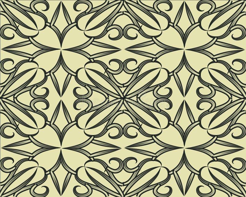 仿造无缝的集 与错觉作用的几何纹理 向量例证