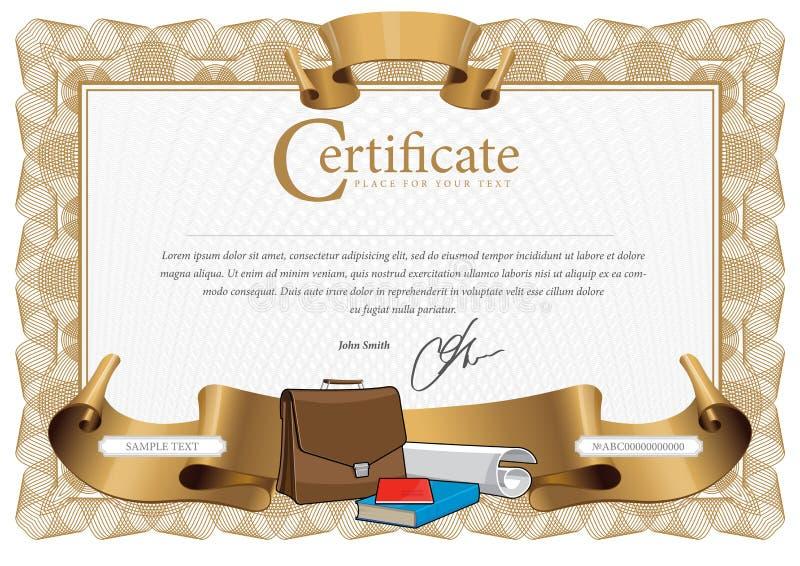 仿造用于货币和文凭 库存例证